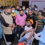 कैबिनेट मंत्री जोशी ने टीकाकरण केंद्र का किया निरीक्षण।